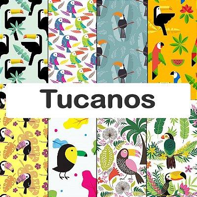 Tecido impermeável PUL Estampado - Tucanos