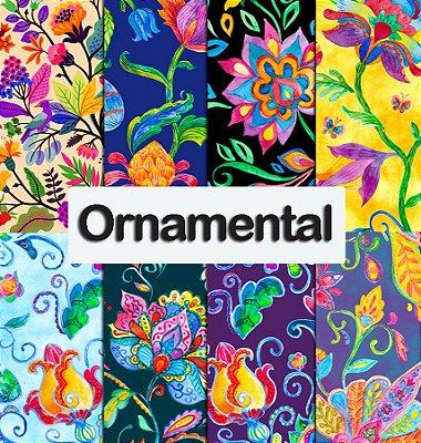 Tecido impermeável PUL Estampado - Ornamental