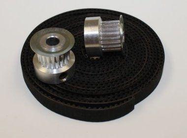Kit correia com polia Gt2 20 Dentes p/ impressora 3D