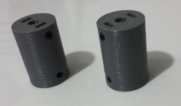 Acoplador Em Abs 5 X 5 - Tec3D
