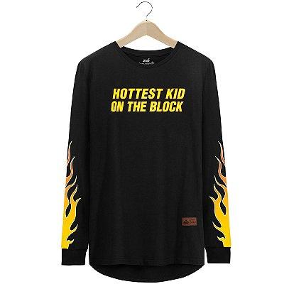 Camiseta Manga Longa Hottest Kid