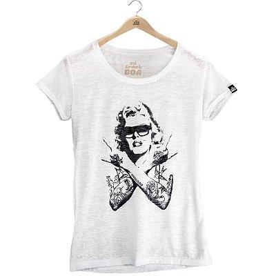 Camiseta Marilyn Branca - Feminina Baby Look