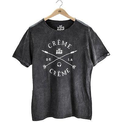 Camiseta Crème de la Crème Preto Estonado - Masculina