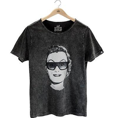 Camiseta Mulher Loka Preto Estonado - Masculina