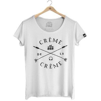 Camiseta Crème de la Crème Branca - Feminina Baby Look