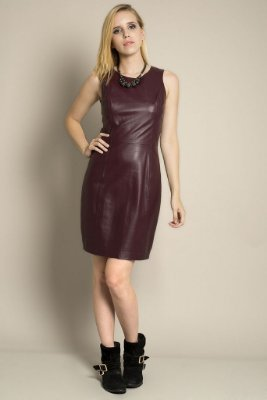 VESTIDO TUBO LEATHER LIZIANE RITCHER