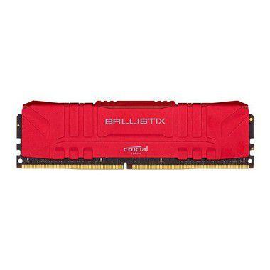 MEMORIA CRUCIAL BALLISTIX 8GB (1X8) DDR4 2666MHZ VERMELHA - BL8G26C16U4R