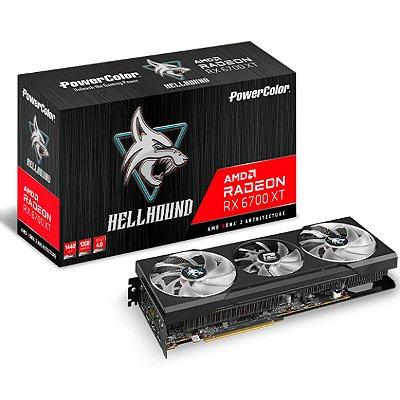 PLACA DE VÍDEO POWERCOLOR HELLHOUND RADEON RX 6700 XT, 12GB, GDDR6, 192BIT -AXRX 6700XT 12GBD6-3DHL