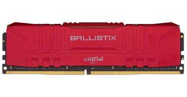 MEMÓRIA CRUCIAL BALLISTIX 16GB, DDR4, 3200MHZ, 1X16GB – VERMELHO - BL16G32C16U4R
