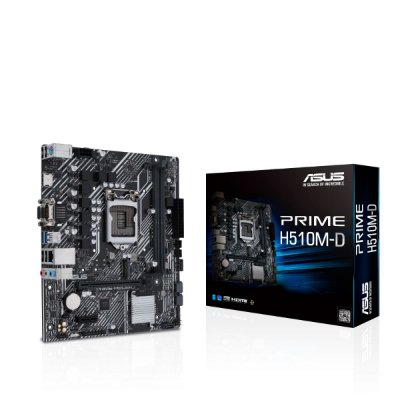 PLACA MÃE ASUS PRIME H510M-D, CHIPSET H510, INTEL LGA 1200, MATX, DDR4