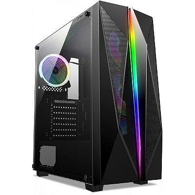COMPUTADOR GAMER AMD RYZEN 7 1700, 16GB DDR4, SSD 480GB, GPU RTX 2060 6GB, FONTE 600W 80 PLUS