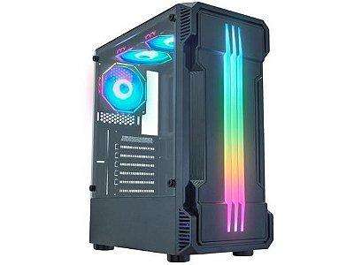 GABINETE GAMER K-MEX BIFROST II CG-01KB - RGB ATX PRETO