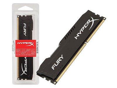 MEMÓRIA HYPERX FURY 8GB 2400MHz, DDR4, CL15, PRETA, HX424C15FB3/8