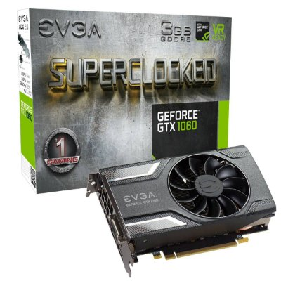 PLACA DE VÍDEO GTX 1060 3GB DDR5 192BITS EVGA ACX2 SUPERCLOCKED