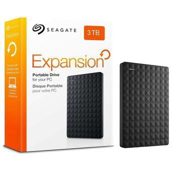 HD EXTERNO SEAGATE EXPANSION 3TB USB 3.0 - PORTÁTIL