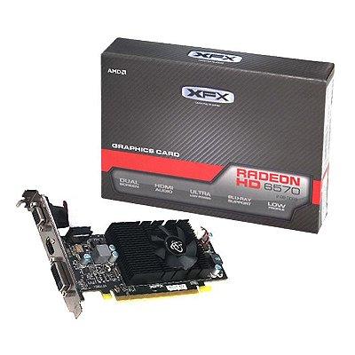 PLACA DE VÍDEO ATI RADEON HD6570 2GB DDR3 128BITS XFX