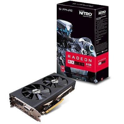 PLACA DE VÍDEO RX 480 8GB DDR5 256BITS SAPPHIRE