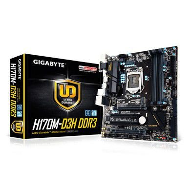 PLACA MÃE H170M D3H SOCKET 1151 GIGABYTE