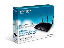 ROTEADOR MODEM WIRELESS TP-LINK ARCHER D7 AC1750 DUAL BAND
