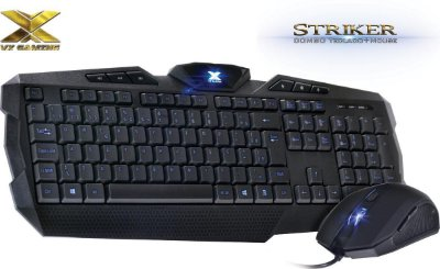 KIT MOUSE TECLADO VX GAMING STRIKER 1600 DPI - AZ