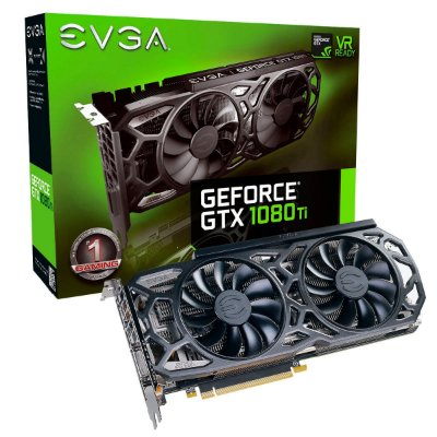 PLACA DE VÍDEO GTX 1080TI 11GB GDDR5X 352BITS EVGA BLACK EDITION ICX COOLER E LED