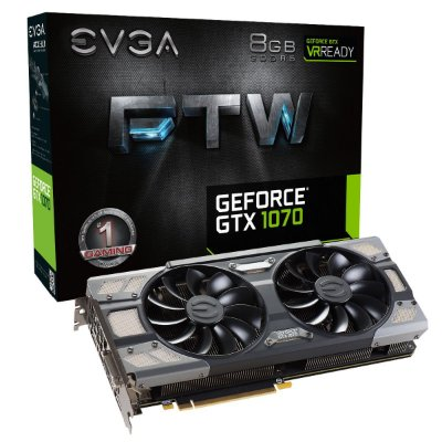 PLACA DE VÍDEO GTX 1070 8GB DDR5 256BITS EVGA FTW GAMING