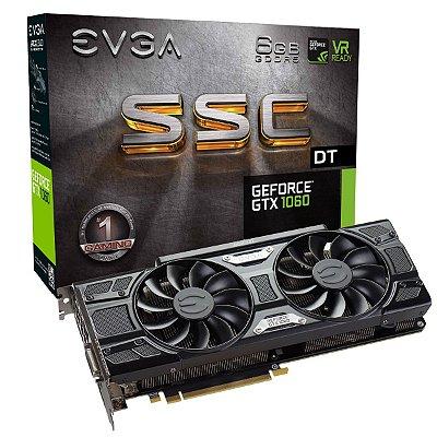 PLACA DE VÍDEO GTX 1060 6GB DDR5 192BITS EVGA SSC DT GAMING