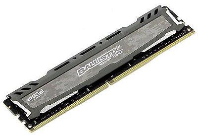 MEMÓRIA CRUCIAL BALLISTIX 16GB 2400MHZ DDR4, CINZA, BLS16G4D240FSB