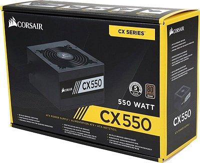 FONTE DE ALIMENTAÇÃO ATX 550W REAIS CORSAIR CX550