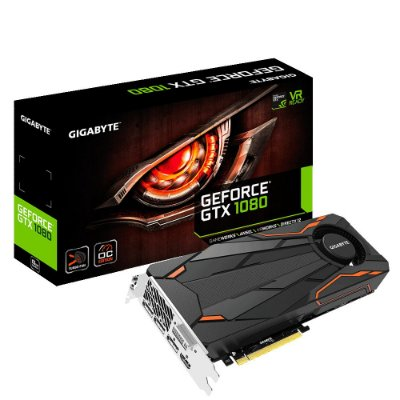 PLACA DE VÍDEO GTX 1080 8GB DDR5 256BITS GIGABYTE TURBO OC