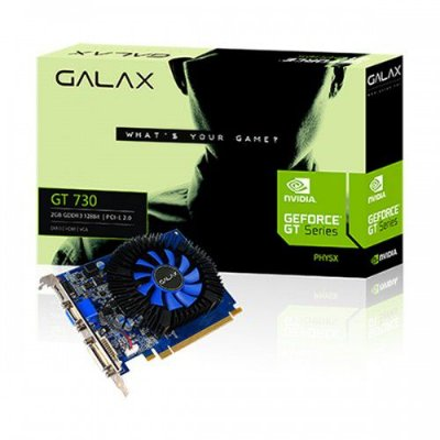 PLACA DE VIDEO GT 730 2GB DDR3 128BITS GALAX