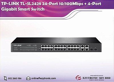 SWITCH TP-LINK 4 PORTAS GIGABYT + 24 PORTAS 10/100MBPS MODELO TL-SL2428