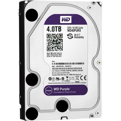 DISCO RÍGIDO 4TB SATA WD PURPLE 5400RPM SURVEILLANCE