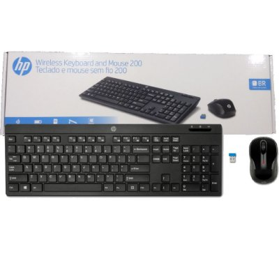 KIT MOUSE E TECLADO  HP 200 WIRELESS