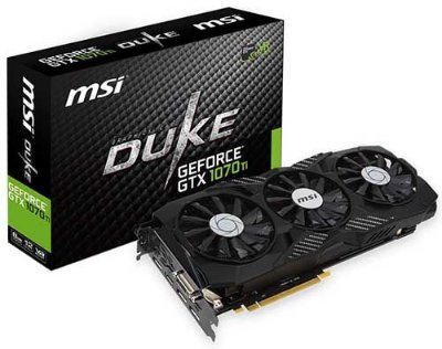 PLACA DE VÍDEO GTX 1070TI DUKE 8GB DDR5 256BITS MSI