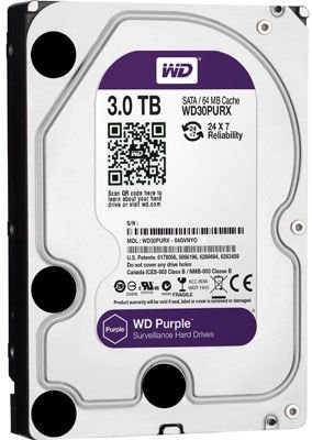 DISCO RÍGIDO 3TB SATA WD PURPLE 5400RPM SURVEILLANCE
