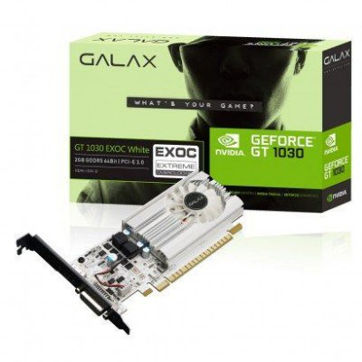 PLACA DE VÍDEO GT 1030 2GB DDR5 64BITS GALAX