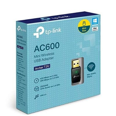 ADAPTADOR NANO USB WIRELESS AC600 ARCHER T2U DUAL BAND