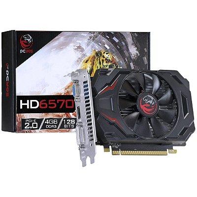 PLACA DE VÍDEO ATI RADEON HD6570  4GB DDR3 128BITS PCYES