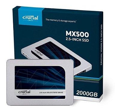 SSD CRUCIAL MX500 2TB, SATA, 560MB/s - 510MB/s - CT2000MX500SSD1