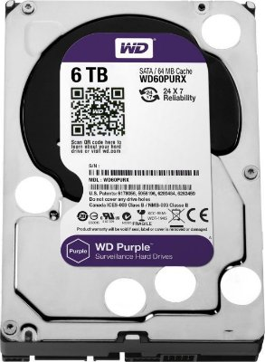 DISCO RÍGIDO 6TB SATA WD PURPLE 5400RPM SURVEILLANCE