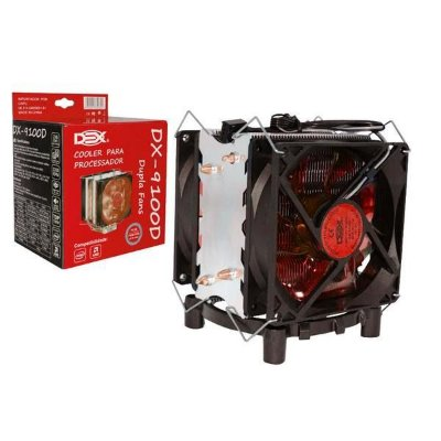 COOLER PARA PROCESSADOR DX-9100D  VERMELHO