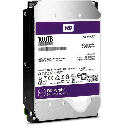 HD WESTERN DIGITAL 10TB PURPLE SURVEILLANCE HARD DRIVE