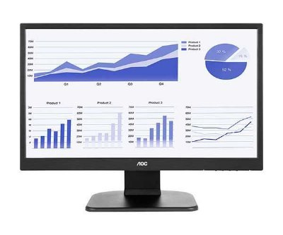 MONITOR AOC 21.5 POL. LED 5MS FULL HD WIDESCREEN