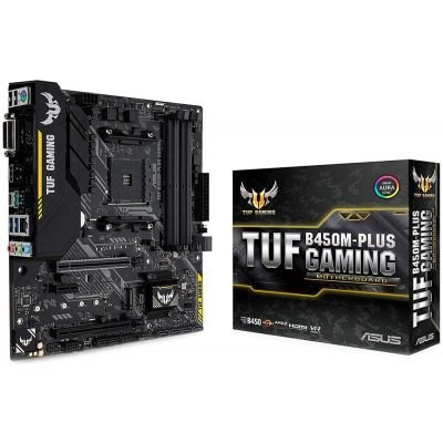 PLACA MÃE ASUS TUF B450M-PLUS GAMING DDR4 SOCKET AM4 CHIPSET AMD B450