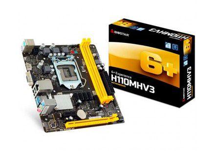 PLACA MÃE BIOSTAR H110MHV3, LGA 1151 CHIPSET INTEL H110 DDR3