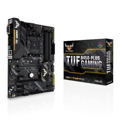 PLACA MÃE ASUS TUF B450-PLUS GAMING, DDR4 SOCKET AM4 CHIPSET AMD B450