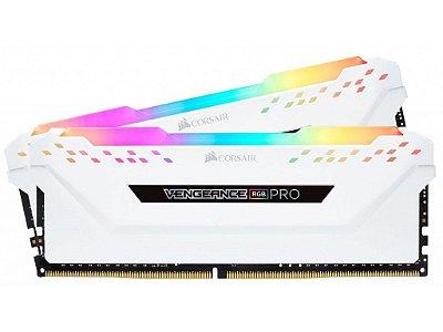 KIT MEMÓRIA CORSAIR VENGEANCE RGB PRO 16GB (2X8GB) 3000MHz DDR4 - CMW16GX4M2C3000C15W