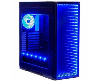 GABINETE GAMEMAX INFINIT PRETO COM LED RGB