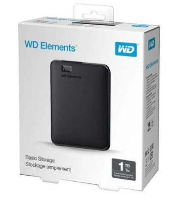 HD EXTERNO WESTERN DIGITAL ELEMENTS 1TB PRETO
